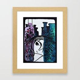 bottles blue Framed Art Print