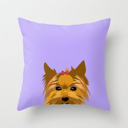 Yorkshire the dog  Throw Pillow