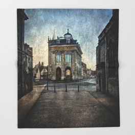 The Town Hall At Abingdon Throw Blanket