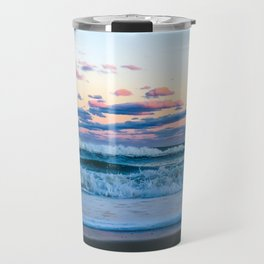 Pink Clouds Over The Atlantic Travel Mug
