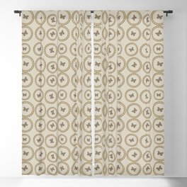 Gold Butterfly Pattern Blackout Curtain