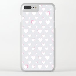 Made for you my heart 34 Clear iPhone Case