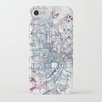 minneapolis iPhone & iPod Cases featuring Minneapolis map by MapMapMaps.Watercolors