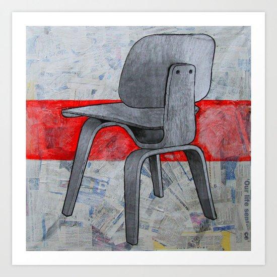 redline chair 03 Art Print