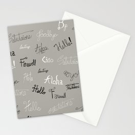 Hellos and Goodbyes Stationery Cards