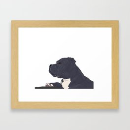 Jupiter the dog Framed Art Print