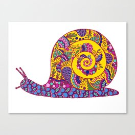 Colorful Snail Canvas Print