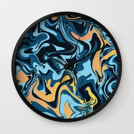 Abstract Marble Pattern 18 Wall Clock