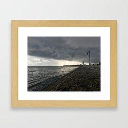 Ominous Shoreline Framed Art Print