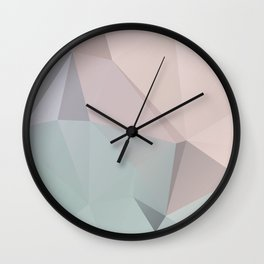 Pastell 2 – modern polygram illustration, wall art print Wall Clock