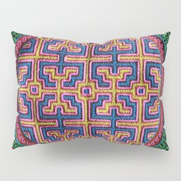 Song for Creativity - Traditional Shipibo Art - Indigenous Ayahuasca Patterns Pillow Sham