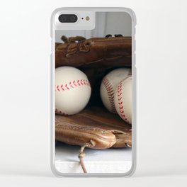Baseball Glove Clear iPhone Case