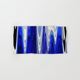 Zigzag Cobalt Blue Hand & Bath Towel