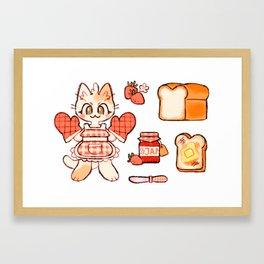 breakfast kitty Framed Art Print