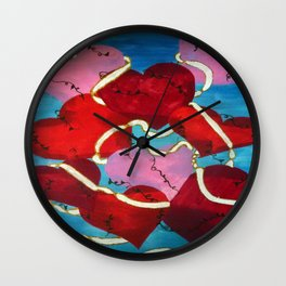 CONNECTED BY THE HEART Wall Clock