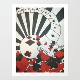 Poker Skull Art Print
