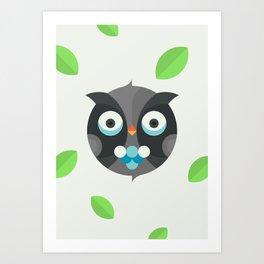 Cute Little Owl Art Print
