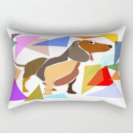 Colorful Dachshund Rectangular Pillow