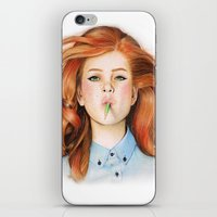 ginger iPhone & iPod Skins featuring Ginger by Sugar Doll