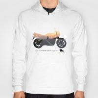 motorbike Hoodies featuring motorbike- photo of freedom by GO-BIKE-GO