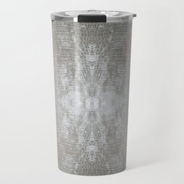 Silver Velvet Snake Pattern Travel Mug