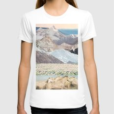 Washes White Womens Fitted Tee SMALL
