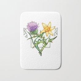 Thistle and Daffodil Bath Mat