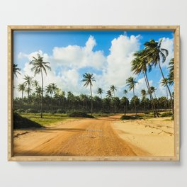 Coconut Trees Serving Tray