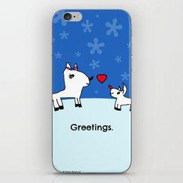 Sweet Deer Holiday Greetings iPhone Skin
