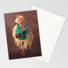 Rabbit girl illustration fantastic Stationery Cards
