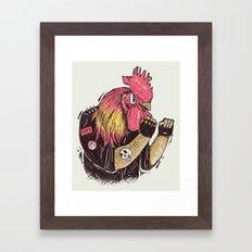 Cook-a-doodle Punk Framed Art Print