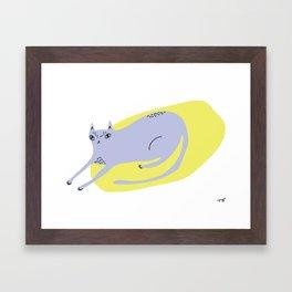 Resting Cat Framed Art Print