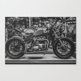 Bike shed London Canvas Print