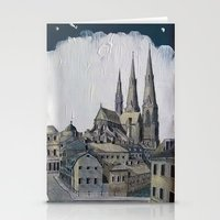 sweden Stationery Cards featuring Uppsala Sweden by Alejandro D