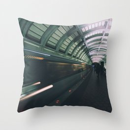 Morning Commute Throw Pillow