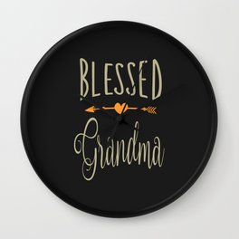 Blessed Grandma Wall Clock