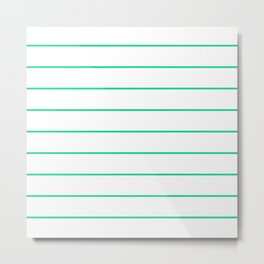 SKINNY STRIPE ((emerald green)) Metal Print