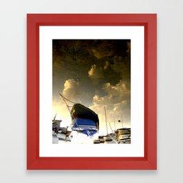 Surreal boat Framed Art Print