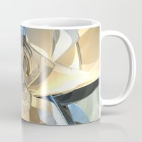 bands Mugs featuring Blue And Beige Bands by Phil Perkins
