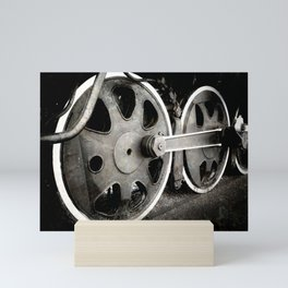 Santa Fe Locomotive Wheels Mini Art Print