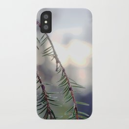 sunset in the woods. iPhone Case