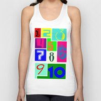 numbers Tank Tops featuring FUNNY NUMBERS by Vivian Fortunato