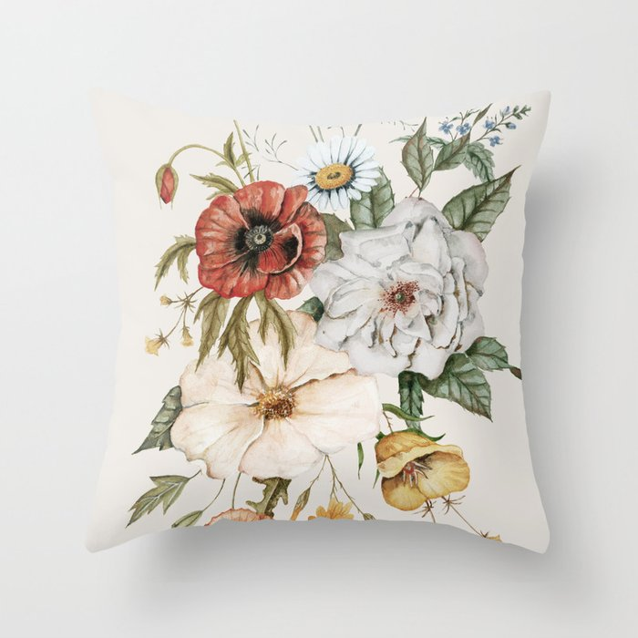 Wildflower Bouquet Throw Pillow By Shealeenlouise Society6