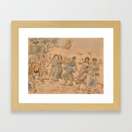 Aance on A Fine Afternoon Framed Art Print