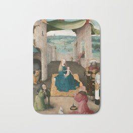The Adoration of the Magi by Hieronymus Bosch, 1475 Bath Mat