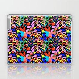 60's Fiesta Floral 2 in Black Laptop & iPad Skin