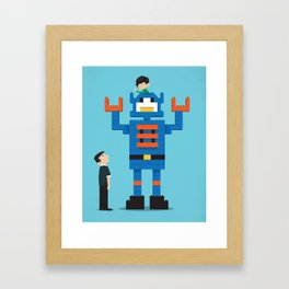 Building Block Bot Framed Art Print