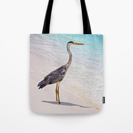 Maldivian Grey Heron Tote Bag