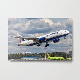 B-777 takeoff Metal Print