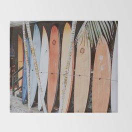 lets surf ii Throw Blanket